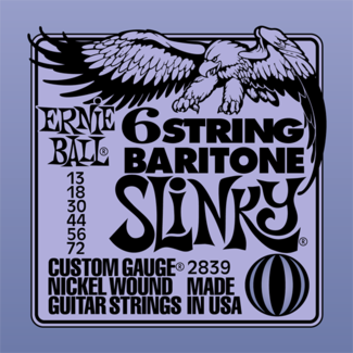 6-STRING BARITONE SLINKY W/ SMALL BALL END 29 5/8 SCALE –