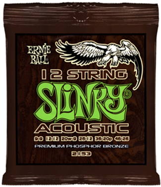 Ernie Ball 12 String Slinky Phosphor Bronze Acoustic Guitar Strings