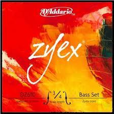 Zyex (Dáddario) kontrabasstrenge, sæt.