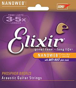 Elixir Nanoweb Phosphor bronce akk. guitarstrenge