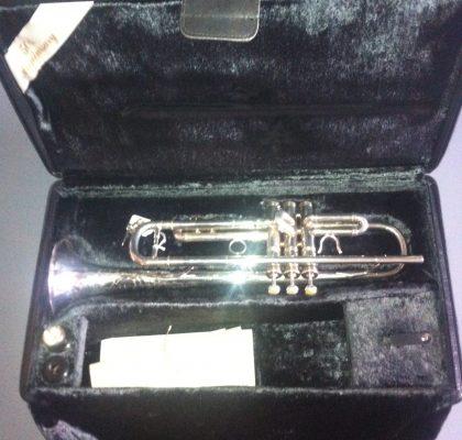 Benge trompet, 50 års anniversary. Brugt.