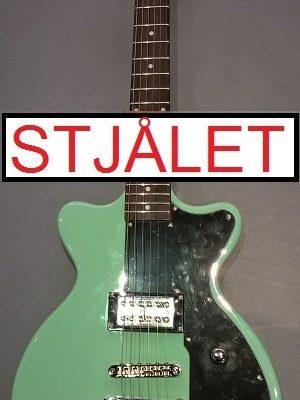 Hutchins Shade II, grøn. Elguitar STJÅLET