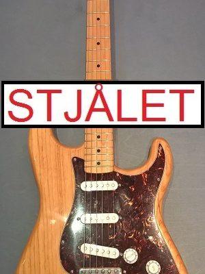 Fender Stratocaster m. bag STJÅLET