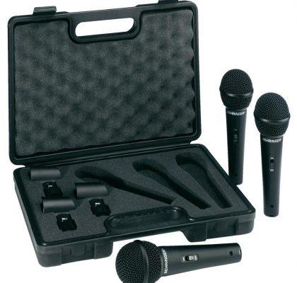 Behringer sangmikrofoner, 3 stk. XM1800S