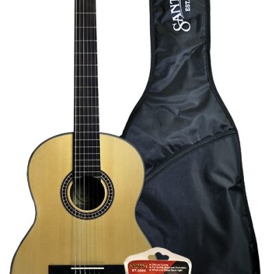 Santana Bonfire 3/4 klassisk guitar, m. clip-on tuner og bag B7S