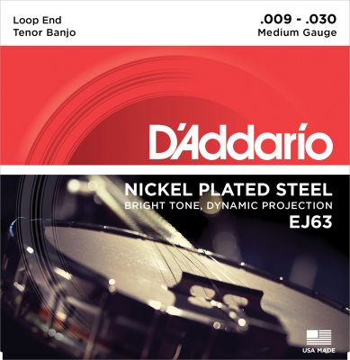 D'Addario banjostrenge, tenor, medium EJ63