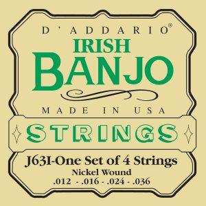 D'Addario banjostrenge, irsk tenor, medium EJ63i