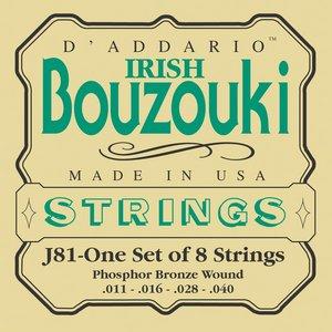 D'Addario bouzoukistrenge, irsk, 8 stk EJ81