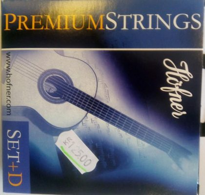 Höfner HPS-Set+D Premium High Tension E1-E6 Nylon Strings for Concert Guitar