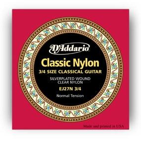 D'Addario Classic Nylon EJ27N 3/4