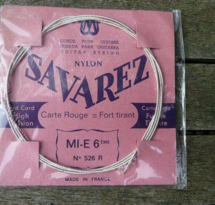 SAVAREX MI-E6, N526R guitar strenge